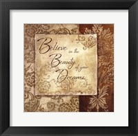 Beauty of your Dreams Framed Print