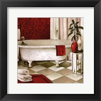 Framed Red Bain I