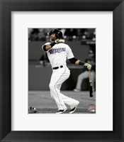 Framed Jose Bautista 2011 Spotlight Action