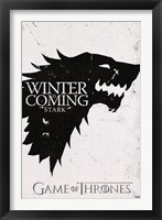 Framed Game of Thrones - Stark Sigil