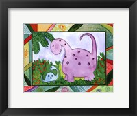 Baby Dino Mytes - Ben and June Framed Print