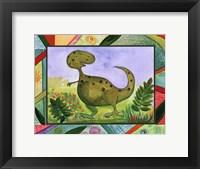 Baby Dino Mytes - Tank Framed Print