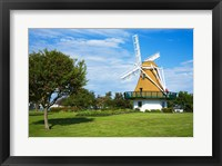 Framed Traditional windmill in a field, City Beach Park, Oak Harbor, Whidbey Island, Island County, Washington State, USA