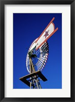 Framed Close view of a windmill at American Wind Power Center, Texas