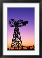 Framed Silhouette of a windmill, American Wind Power Center, Lubbock, Texas, USA