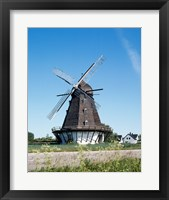 Framed Traditional windmill in a field, Malmo, Sweden