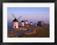 Framed Windmills, La Mancha, Consuegra, Castilla-La Mancha, Spain