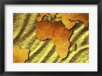 Framed Close-up of a map of Africa