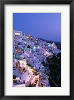Framed Night, Santorini, Thira (Fira), Cyclades Islands, Greece