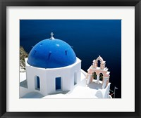 Framed Santorini, Oia , Cyclades Islands, Greece Arial View