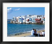 Framed Little Venice, Mykonos, Cyclades Islands, Greece