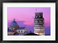 Framed Tower at night, Leaning Tower, Pisa, Italy
