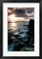 Framed Sunrise over the sea, Cabrillo National Monument, San Diego, California, USA