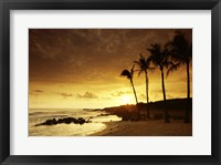 Framed Kauai Hawaii USA at Sunset