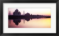 Framed Silhouette of the Taj Mahal, Agra, Uttar Pradesh, India