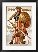 Framed USA Bonds