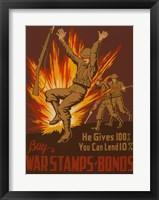 Framed War Stamps & Bonds