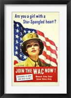 Framed Women's Army Corps