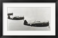 Framed Three fighter planes, P-47 Thunderbolt