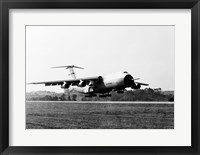 Framed Military airplane taking off, C-5 Galaxy