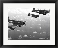 Framed Fighter planes in flight, US Marine Corps