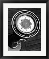 Framed Close up of compass on deck of boat, Compass-Gyro Repeater