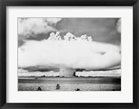 Framed Atomic bomb explosion