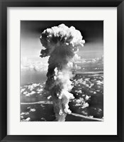 Framed Clouds formed by an atomic explosion