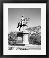 Framed Low angle view of a statue of George Washington, Boston Public Garden, Boston, Massachusetts, USA