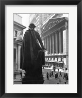 Framed George Washington Statue, New York Stock Exchange, Wall Street, Manhattan, New York City, USA