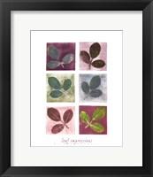 Framed Leaf Impressions