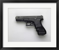 Framed Glock 17, 9mm. Pistol