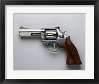 Framed Smith & Wesson, 357-Caliber Revolver