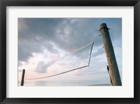 Framed Volleyball net on the beach
