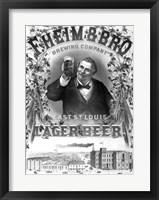 Framed F. Heim and Bros Lager