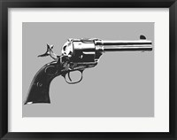 Framed Colt Single Action Revolver