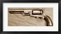 Framed Colt Dragoon Revolver