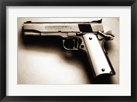 Framed Colt 1911 Gold Cup