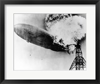 Framed Hindenburg Burning