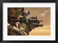 Framed M4 Carbine Firing