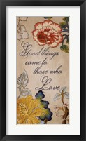 Good Things Framed Print