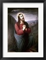 Framed Christ Praying in Gethsemane Christian Schleisner (1810-1882)