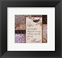 Framed Lavender Inspiration II