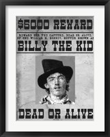 Framed Billy The Kid Wanted Poster