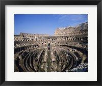 Framed High angle view of a coliseum, Colosseum, Rome, Italy