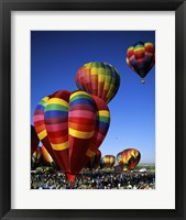 Framed Hot air balloons at the Albuquerque International Balloon Fiesta, Albuquerque, New Mexico, USA Vertical