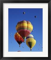 Framed Hot air balloons at the Albuquerque International Balloon Fiesta, Albuquerque, New Mexico, USA Launch