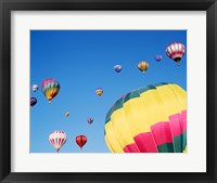 Framed View of Hot Air Balloons Flying into the Sky in New Mexico