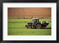 Framed Tractor in a field, Newcastle, Ireland