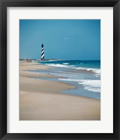 Framed Cape Hatteras Lighthouse Cape Hatteras National Seashore North Carolina USA Prior to 1999 Relocation